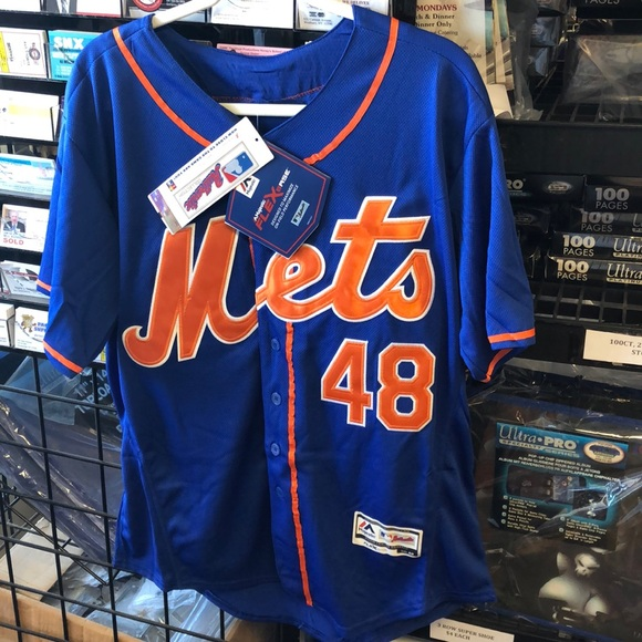 sports shoes 7b5eb 47e76 NWT NY Mets deGrom Jersey Mr. Met on Sleeve NWT